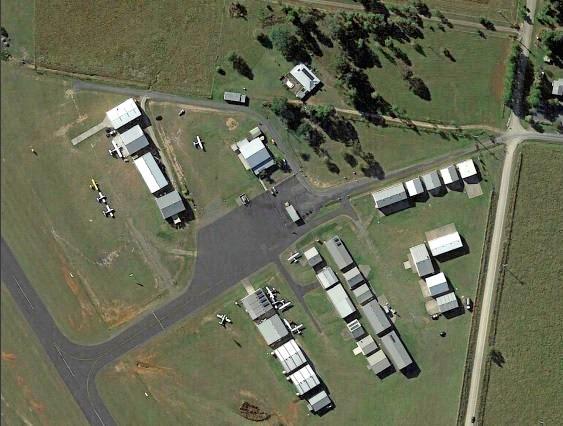 Kybong Airport aerial image