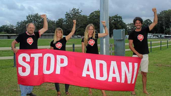 Coffs Coast residents Liisa Rusanen, John Ross, Daniel Skerrett and Ella Skerrett were arrested at Adani's Abbot Point coal terminal last month.