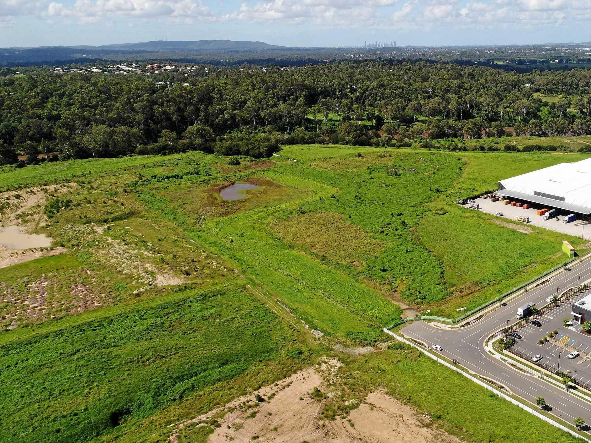 Aerial view of the Redbank Rheinmetall site.