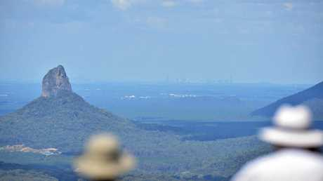 Good Morning Maleny. The views on offer from Mary Cairncross Scenic Reserve in Maleny are some of the best on the Sunshine Coast. Views over the Glasshouse Mountains to Brisbane. Photo: Che Chapman / Sunshine Coast Daily