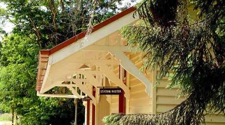 The historic Imbil train station, part of the Imbil Heritage Park precinct.