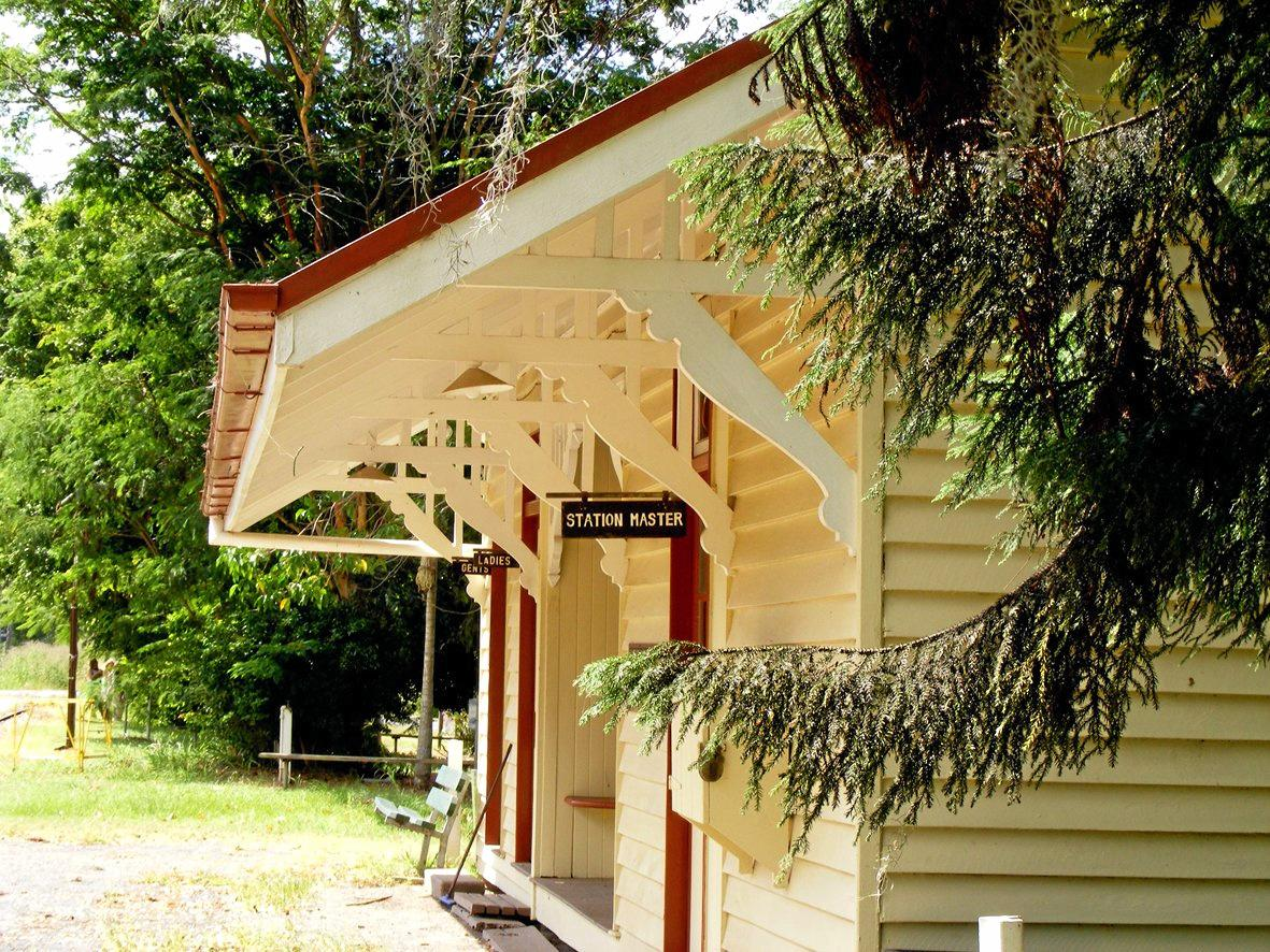 The historic Imbil train station, which will form part of the Imbil Heritage Park precinct.