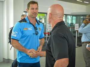 Gold Coast Titans Ambassador Brenton Lawrence visits Gladstone