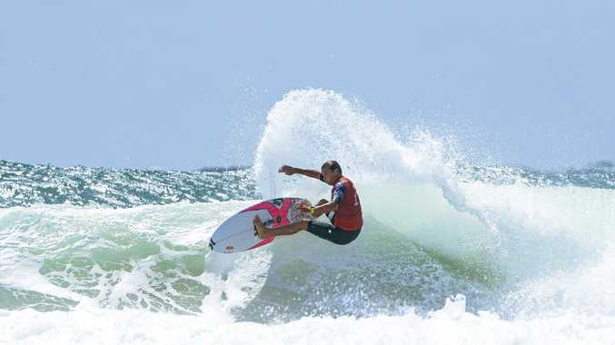 CARVE UP: Julian Wilson has progressed to the quarter-finals at the Quiksilver Pro.