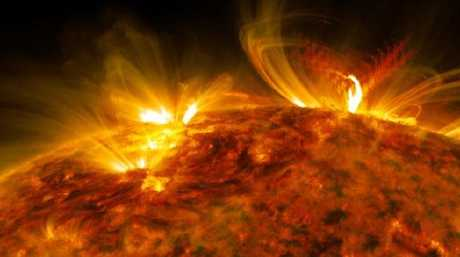 Solar flare flashes in the edge of the Sun captured on September 10, 2017. Picture: NASA/GSFC/SDO