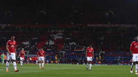 Manchester United's stars trudge off.