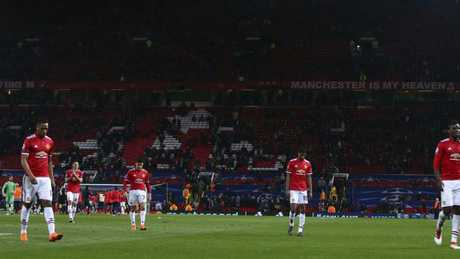 Manchester United's stars trudge off.
