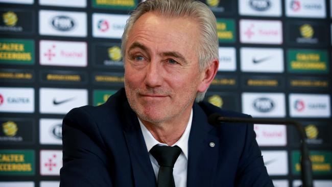 Bert van Marwijk clearly wants to put his own stamp on the Socceroos. Picture: Toby Zerna