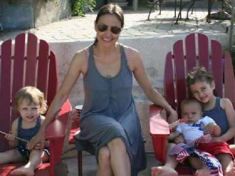 Marina Krim's three children Nessie, three, right, Lulu, six, and Leo, 20 months. Picture: Supplied