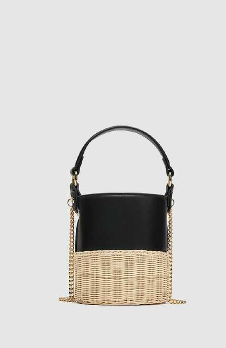 Bucket raffia crossbody bag, $49.95.