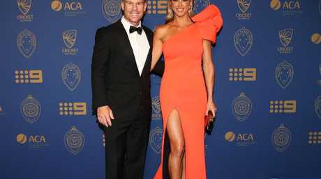 David and Candice Warner at the 2018 Allan Border Medal in Melbourne last month. Picture: Getty