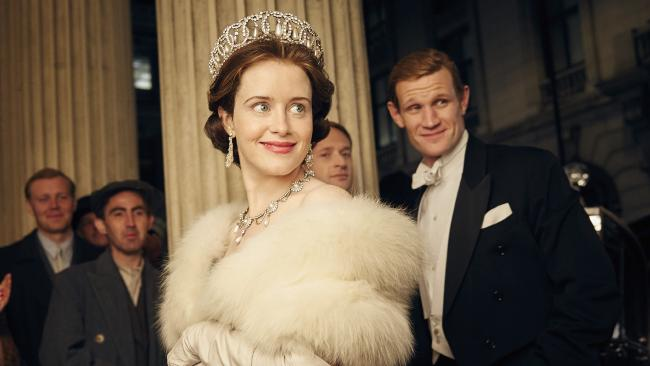 Claire Foy and Matt Smith in The Crown. Picture: Robert Viglasky/Netflix