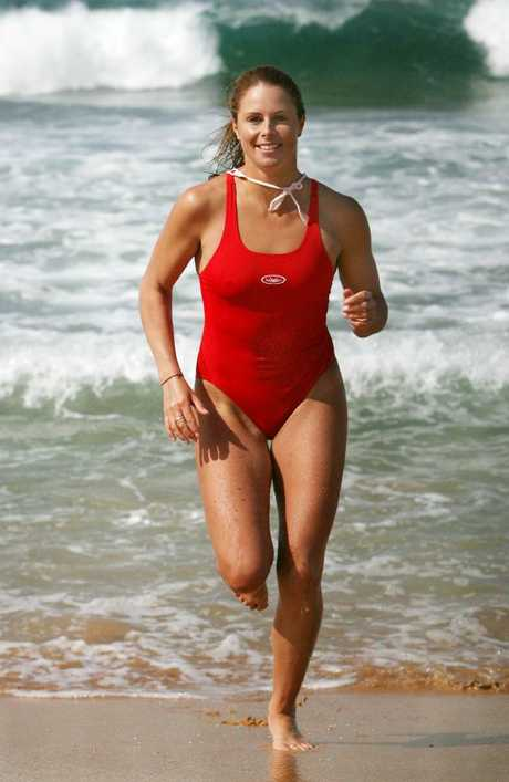 Candice Warner in 2007 after winning four medals from four events at the NSW endurance championships at Collaroy Beach in Sydney.