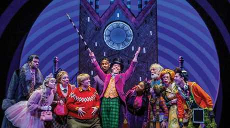 The 2017 Broadway cast of Roald Dahl's Charlie and the Chocolate Factory. Picture: Joan Marcus