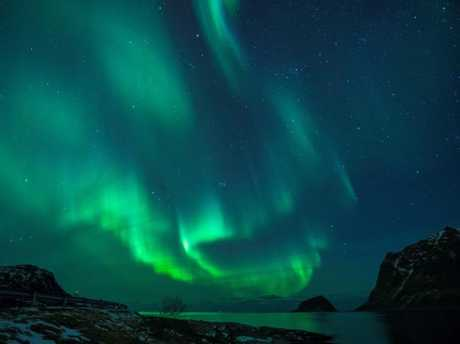 Northern Lights pictured on March 9, 2018, in Utakleiv, northern Norway. Picture: AFP Photo/Oliver Morin