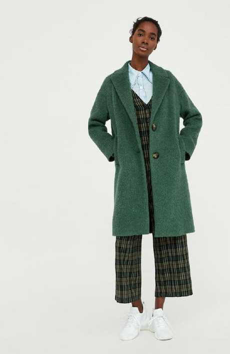 Green textured coat, $259.