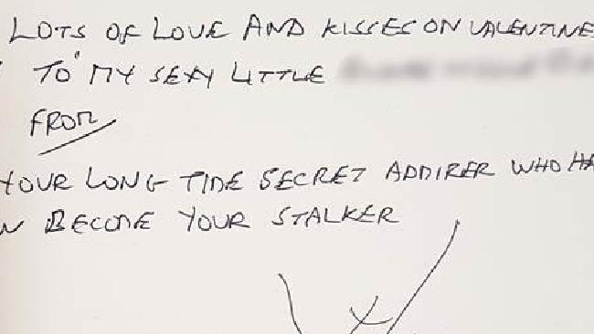 Gordon the stalker's letters have become more threatening and explicit. Police Avon and Somerset Police