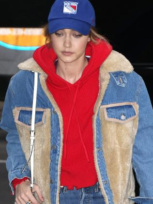 Gigi Hadid she steps out alone in New York on 12 Mar 2018. Picture: MEGA