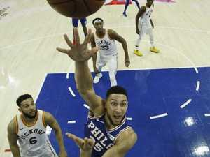 Simmons ties Magic in Sixers scrap