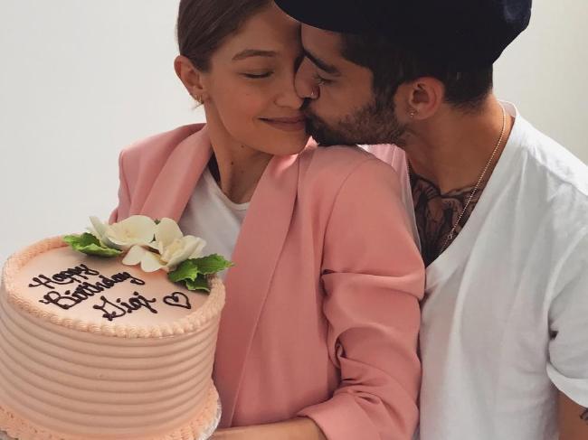 Gigi Hadid celebrated her 22nd birthday with boyfriend Zayn Malik. Picture: Instagram