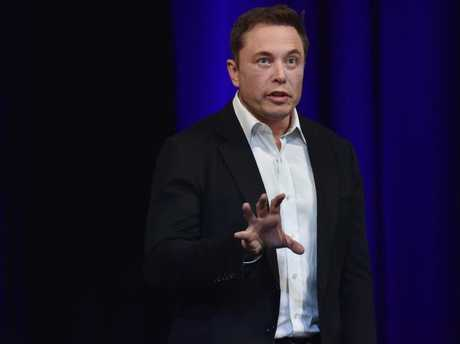 Billionaire entrepreneur and founder of SpaceX Elon Musk speaks at the 68th International Astronautical Congress 2017 in Adelaide. PETER PARKS