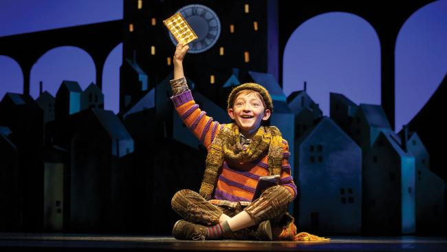 Ryan Foust as Charlie Bucket in the 2017 Broadway production. Picture: Joan Marcus