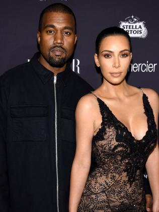 Kanye West and Kim Kardashian. Picture: Getty
