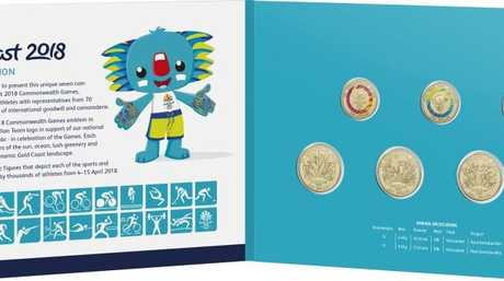 Commonwealth Games 2018: The limited edition seven coin set to be distributed through Woolworths from The Royal Australian Mint. Picture: Supplied