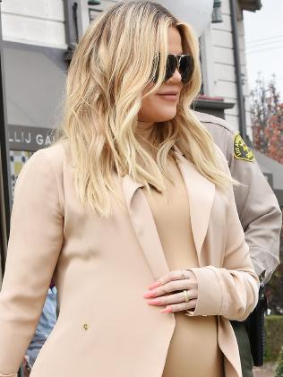 Khloe Kardashian is due any day. Picture: MEGA