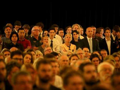 More than 1000 people attended the Town Hall meeting on Tuesday night. Picture: Stuart McEvoy/The Australian