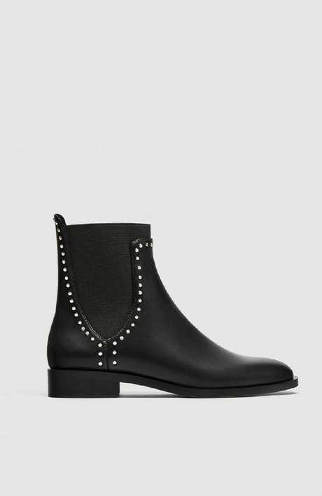 Flat ankle boots with studs, $69.95.