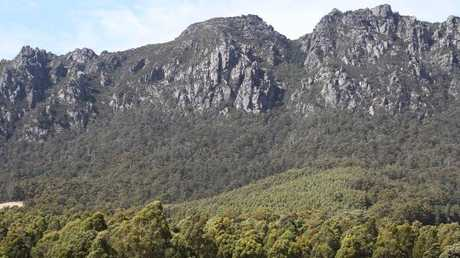 Mt Roland, where the couple had been bushwalking.