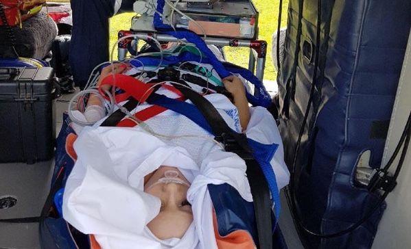 Larissa Rosentreter on November 11 2017 shortly following the motorbike accident in Blackbutt.