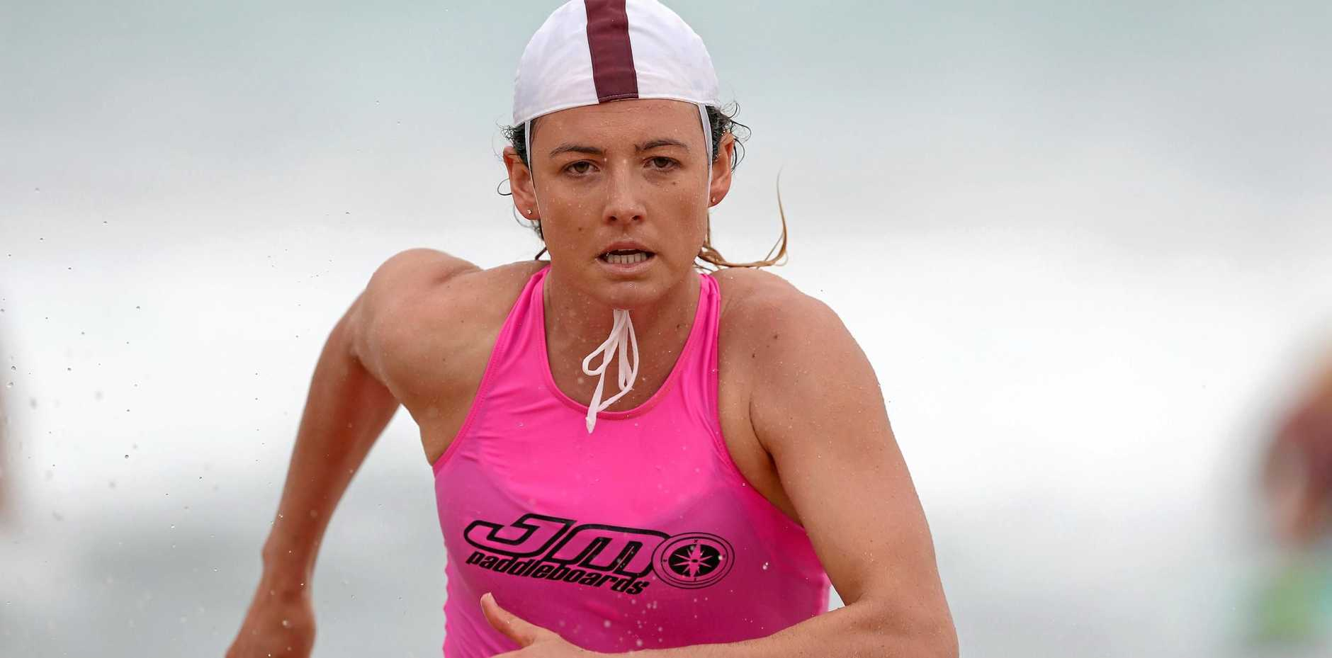 READY TO RACE: Jordan Mercer will be out to beat all-comers at the Queensland Surf Life Saving State Championships.