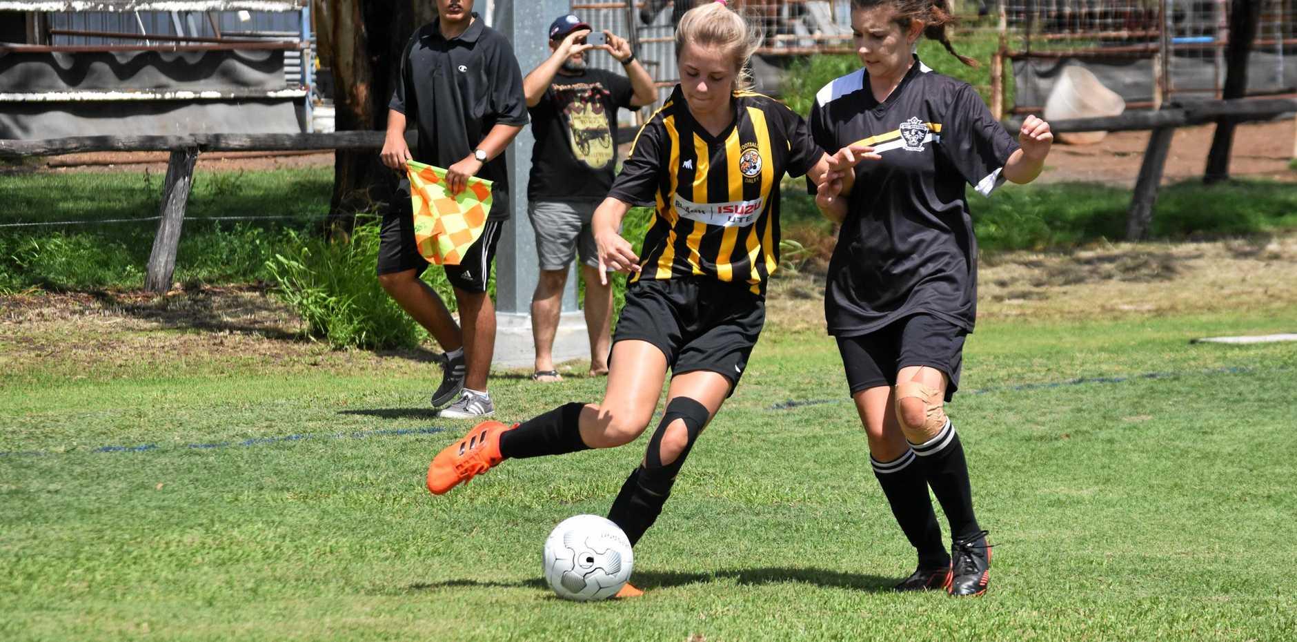 TIGER: Sarah Staheli on the ball.