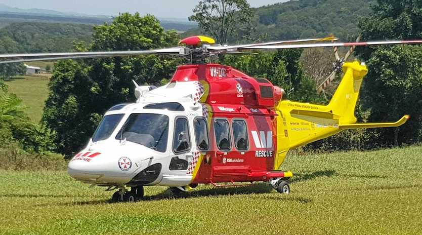 The Westpac Life Saver Rescue Helicopter has been called after a woman was run over by a tractor.
