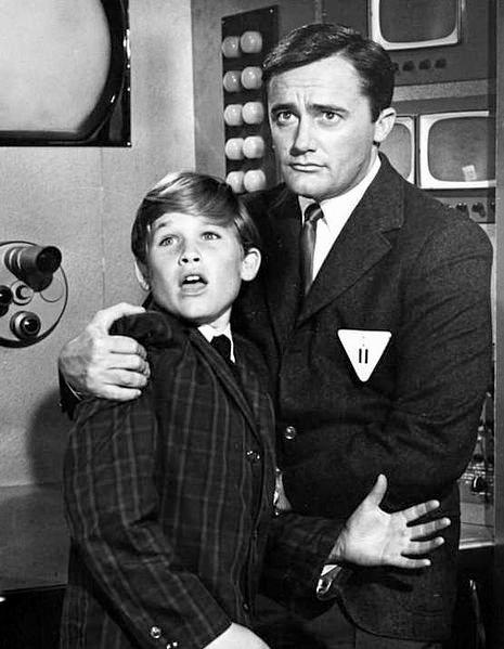 Photo of young Kurt Russell and Robert Vaughn from the television program The Man From U.N.C.L.E. in 1964.