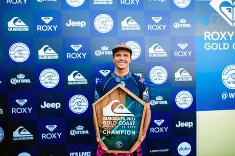 CHAMP: Julian Wilson of Australia with his prize.