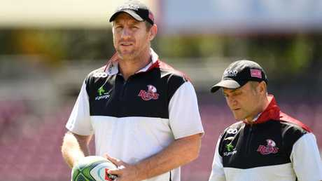 Brad Thorn (left) has reinforced the Queensland scrum.