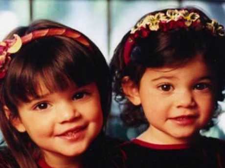 Kylie and Kendall Jenner as kids. Picture: Supplied