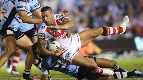 St George Illawarra's forward pack were strong throughout the match.