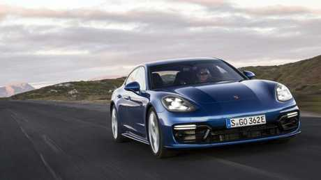 The Panamera Hybrid springs to life on the open road. Pic: Supplied.