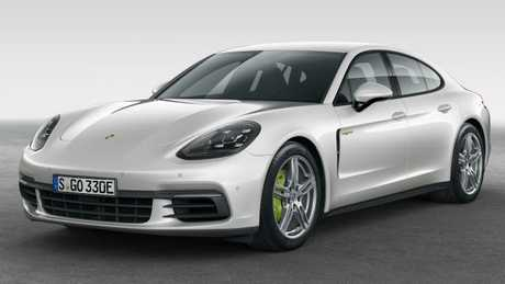 The green callipers are a pointer to the Panamera's environmental credentials. Pic: Supplied.