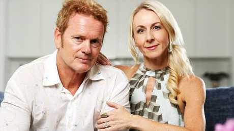 Craig McLachlan and his partner Vanessa Scammell. Picture: Tim Hunter.