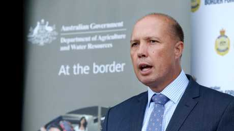Peter Dutton's comments did not go down well with the South African government. Picture: Richard Dobson