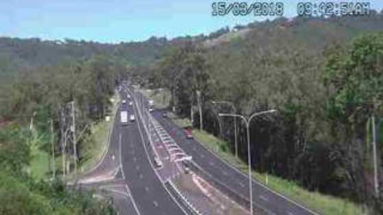 Toowoomba Range traffic has now cleared after a collision between a motorbike and car caused gridlock this morning.