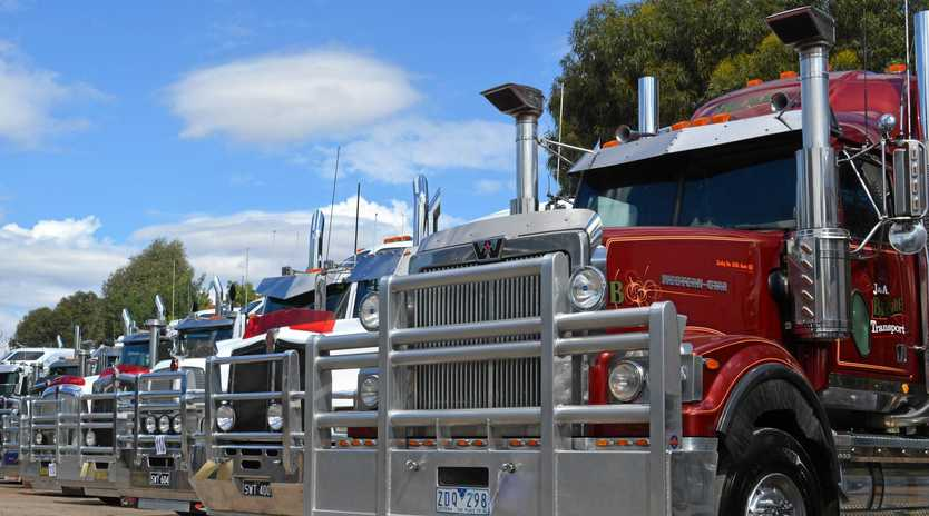A GREAT DAY OUT: The Oaklands Truck Show always draws a healthy line-up of rigs and makes for a fun family day out.