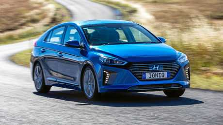 The Hyundai Ioniq Hybrid will reach showrooms from August, alongside electric and plug-in hybrid derivatives.