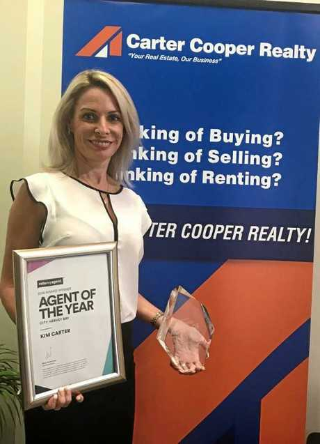Carter Cooper Realty's Kim Carter was named agent of the year in the RateMyAgent 2018 awards.
