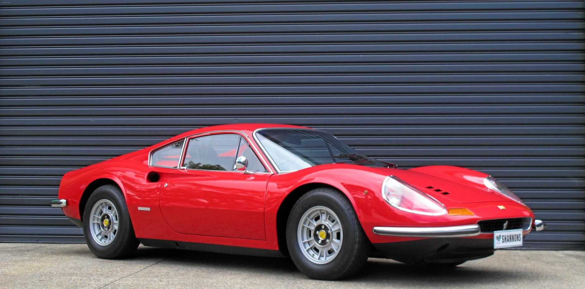 A 1971 Ferrari Dino 246 GT Coupe sold for an undisclosed amount, but within the $620,000-$680,000 guiding range.